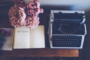 peonies, vintage copywriter, contact, lafleur lifestyle